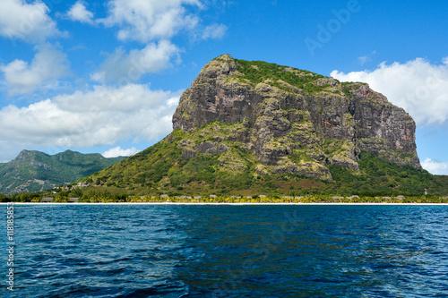 Poster Le Morne Brabant landscape, Mauritius island