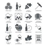 Wine icons set isolated on white background - 118189064