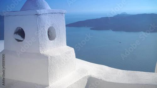 Zdjęcia na płótnie, fototapety, obrazy : white houses with beautiful sea views in Greece, Santorini, Sunny day