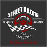 Fototapety Street Racing club badge and design elements.