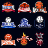 Fototapety Basketball colour label