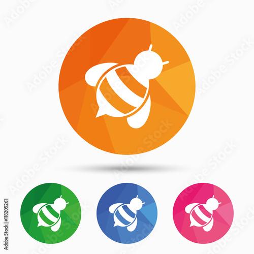 Zdjęcia na płótnie, fototapety, obrazy : Bee sign icon. Honeybee or apis symbol.