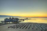 Seebrücke Sellin kurz vor Sonnenaufgang - 118207484