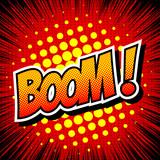 Boom! - Comic Speech Bubble, Cartoon.