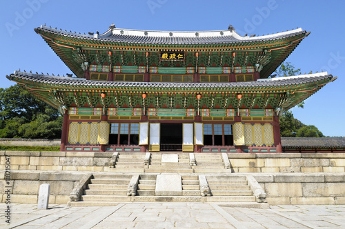 Foto op Canvas Seoel Seoul, South Korea, Changdeok Palace temple building main hall