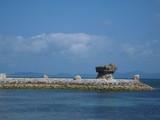 沖縄 海中道路のパーキングからの景色
