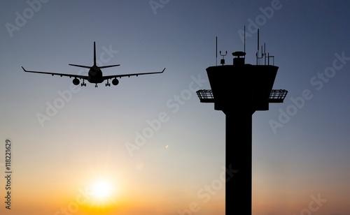 Leinwanddruck Bild control tower