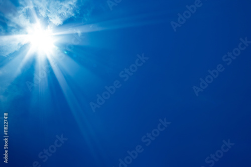 Poster sunny blue sky