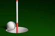 Golf Ball Hole In One, 3D Rendering