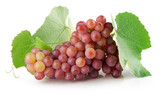 pink grapes on the white background
