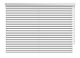 Window shutters. Office interior blinds. Window decor. Horizontal window blind. Vector illustration. Grey window blinds. Office accessories - 118249245