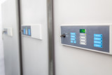 medical refrigerators control panels in the blood bank