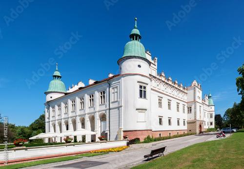 """Plakat Renaissance castle, palace in Baranow Sandomierski in Poland, often called """"litt"""