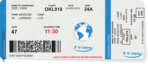Wzór Linii Lotniczych Boarding Pass Biletu Z Kodem Qr2 Koncepcja