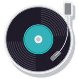 retro music vinyl isolated icon vector illustration design