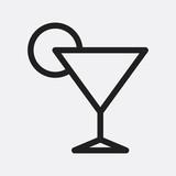 Cocktail icon illustration