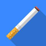 Cigarette flat icon illustration