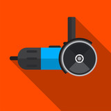 Grinder machine flat icon illustration