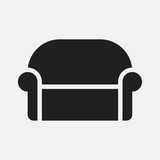 Sofa icon illustration