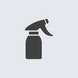 Spray bottle icon illustration