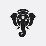 Indian elephant icon illustration