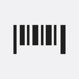 Bar code icon illustration