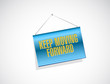 keep moving forward hanging banner sign concept