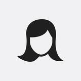 Woman face icon illustration
