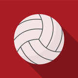 Volleyball flat icon illustration