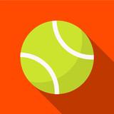 Tennis ball flat icon illustration