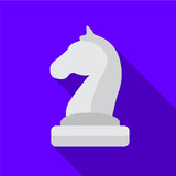 Chess horse icon illustration