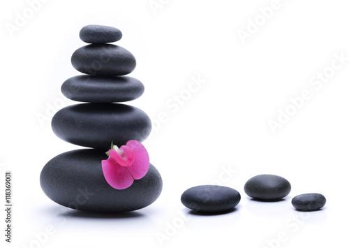 Foto op Canvas Zen Hot Stones