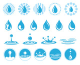 Water vector icons