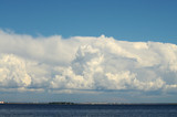 Heavenly cloud on the horizon.
