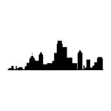 new york silhouette city building skyline view front vector  illustration isolated - 118380877