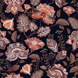 Vintage seamless pattern. Flowers background in provence style.