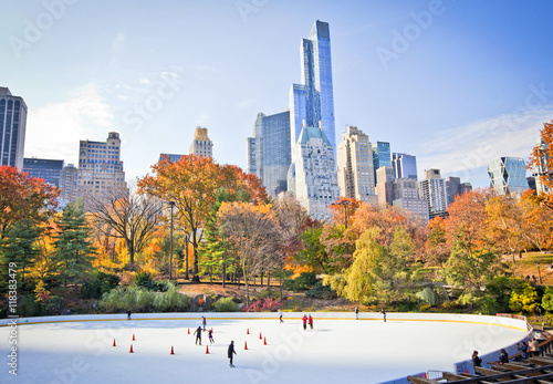 Foto op Canvas New York Ice rink