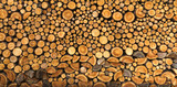 BACKGROUND OF DRY CHOPPED FIRE WOOD LOGS IN A PILE - 118383884