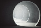 Fototapety Textured concrete tunnel