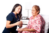Senior patient prescription medication explanation