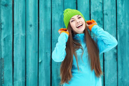 piękna zimowa kobieta