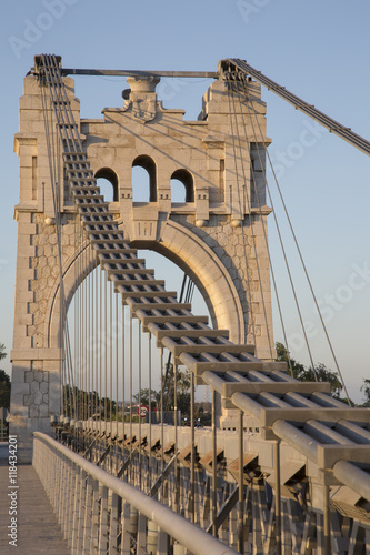 Obraz na Plexi Penjat Suspension Bridge, Amposta