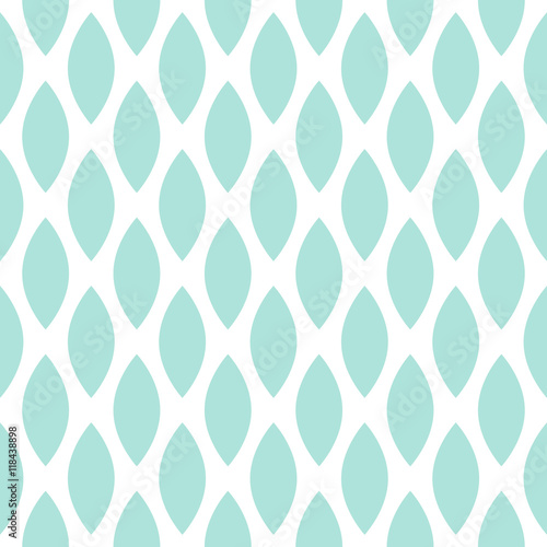 Blue drops vector seamless geometric pattern. - 118438898