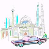Malaysia cityscape background