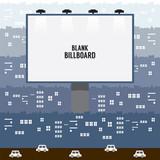 Big Blank Advertising Billboard In Town Vector Illustration