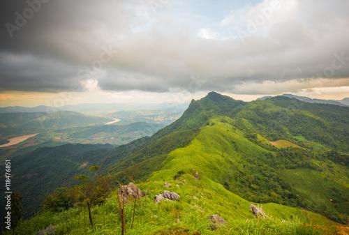 Poster peak of secret mountain doi phatang ,Chiang rai Thailand