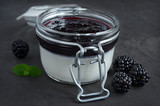 Blackberry panna cotta