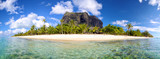 Fototapety Mauritius Island panorama with Le Morne Brabant mount