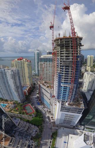 Skyscraper under construction Brickell Miami Downtown