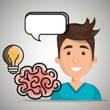 man idea speak vector illustration eps 10